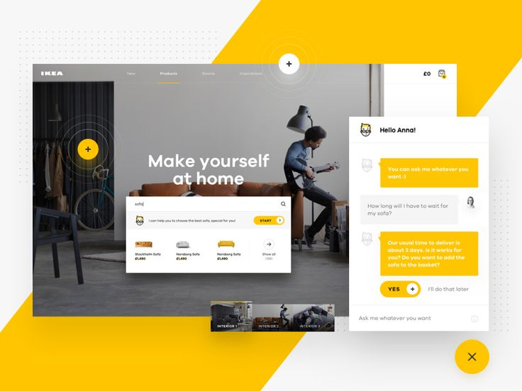 IKEA Online Experience Concept – Chat by Michal Parulski
