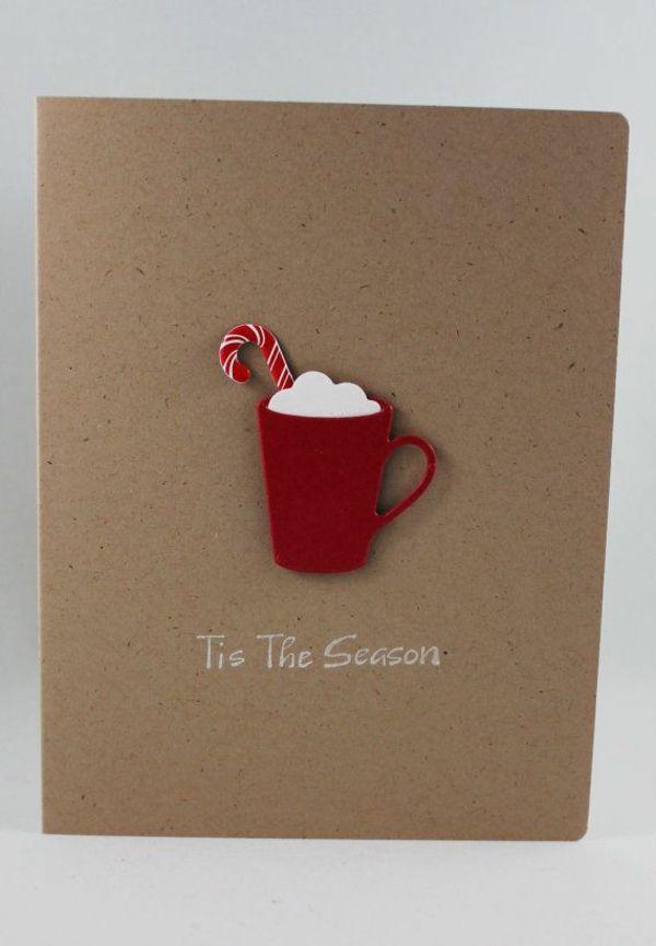 Schöne teetasse Weihnachtskarten selber basteln