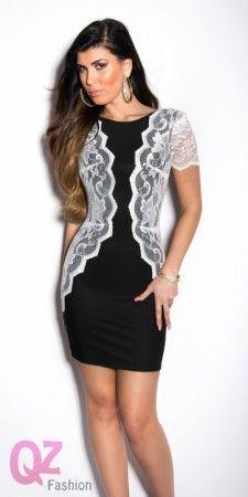 Qz Fashion Elegáns ruhák 0000IN50523 FEKETEFEHÉR