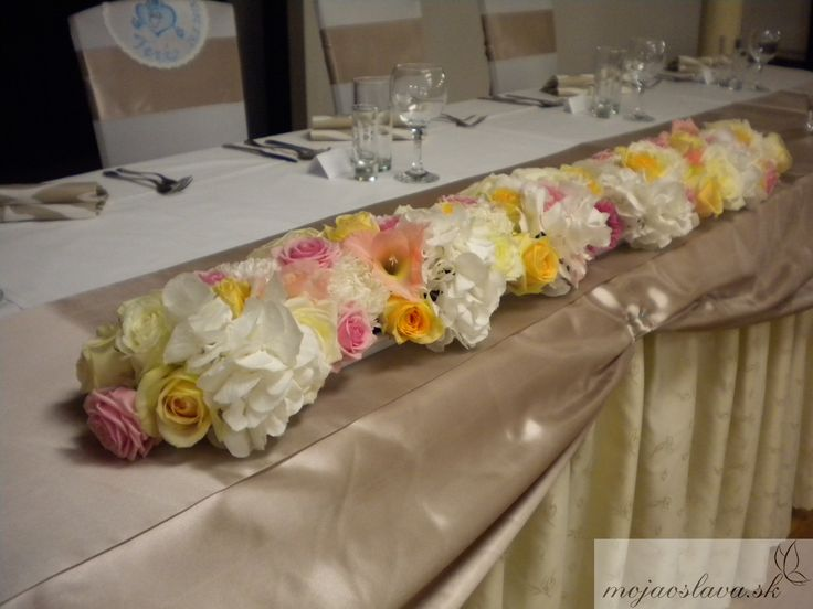 white hydrangea with pink and peach roses and gladiolus