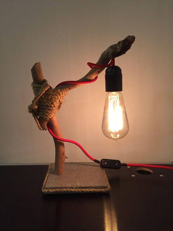 1 Lampe Moderne Et Design Faite Main Avec Des Materiaux Bruts Bois Flotte Origine Ile D Oleron 2 Carreaux De Carrelage Gr Modern Lamp Lamp Novelty Lamp