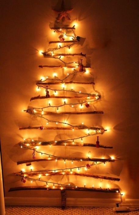 Плоские новогодние елки на стене 6 поделок своими руками (31 фото