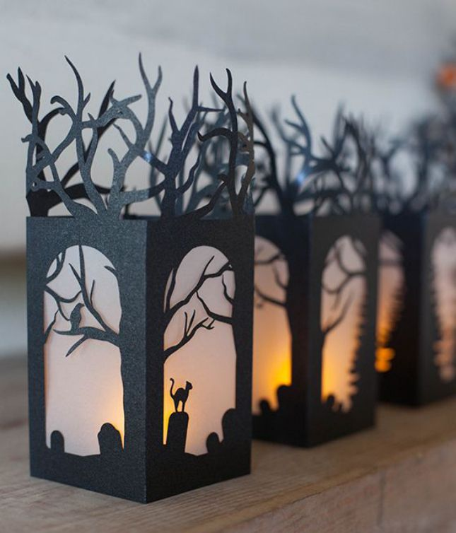 Make graveyard paper lanterns with this tutorial.