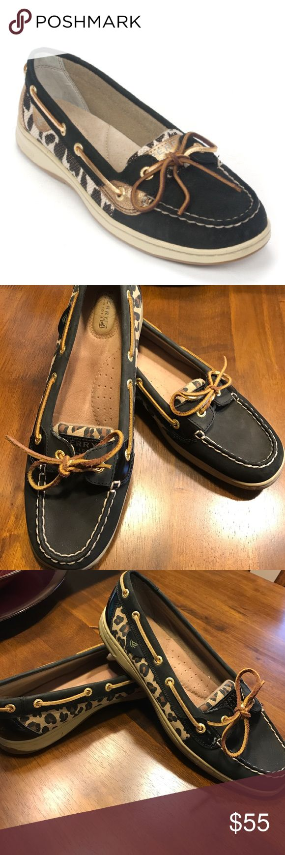 Cheetah Print Sperry Top-siders Pair of Sperrys! They're in pristine condition and have only been worn once or twice! So so cute and they pair perfectly with the cheetah cardigan I have for sale! Sperry Top-Sider Shoes Flats & Loafers