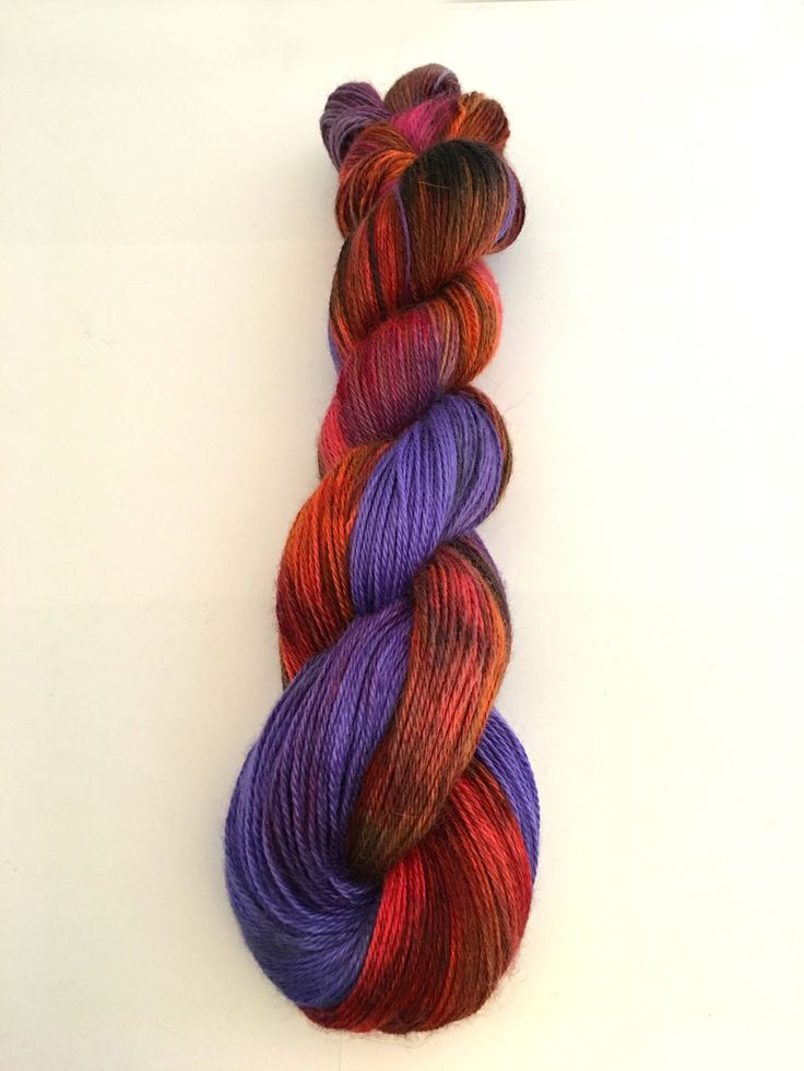 baby alpaca yarn, cashmere yarn, red and violet yarn, Rambunctious, fingering weight yarn, Aries zodiac yarn, yarn in handmade, indie dyed by BeachBumYarn on Etsy https://www.etsy.com/listing/516787727/baby-alpaca-yarn-cashmere-yarn-red-and