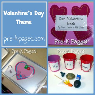 Valentine's Day Themed activities for PreK and Kindergarten from PreK Pages!  Love all the ideas and freebies!