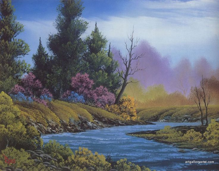 Bob Ross Spring Paintings | Bob Ross Paintings, Bob Ross Art Gallery, Bob Ross Artwork, Pictures