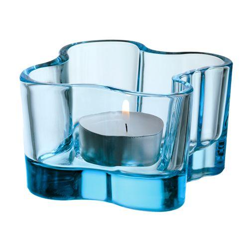 iittala Aalto Votive Candle Holder - Light Blue  $25.00