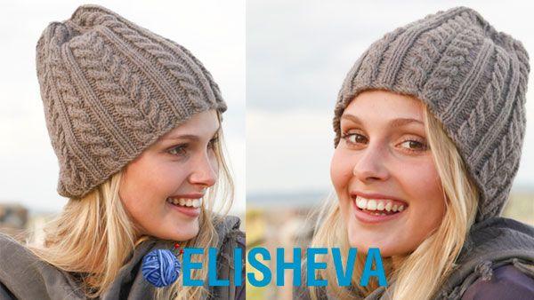 014ffd8eba7 Шапка из шерсти с узором косы Ice Age от Drops Design: описание и схема |  Блог elisheva.ru