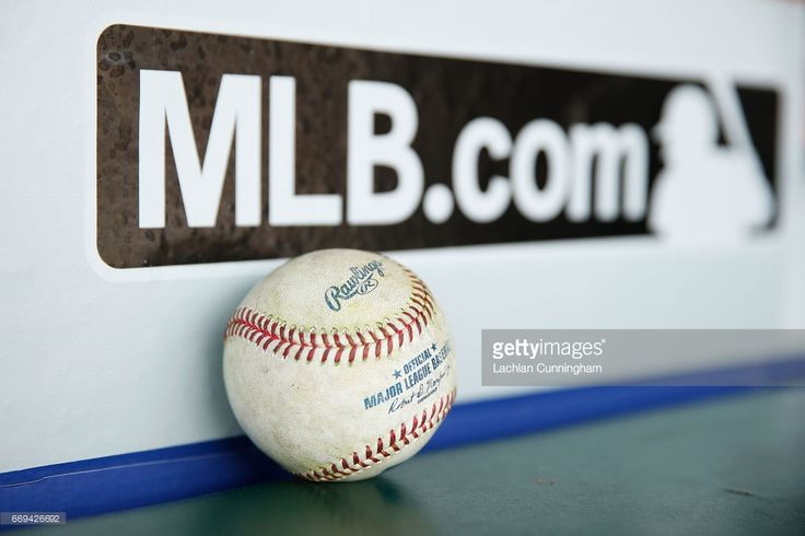 A baseball sits in the dugout before the game between the San Francisco Giants and the Colorado Rockies at AT&T Park on April 15, 2017 in San Francisco, California. All players are wearing #42 in honor of Jackie Robinson Day.
