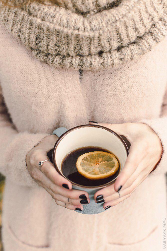 #чай #лимон #осень #тепло #руки #осенний #autumn #tea
