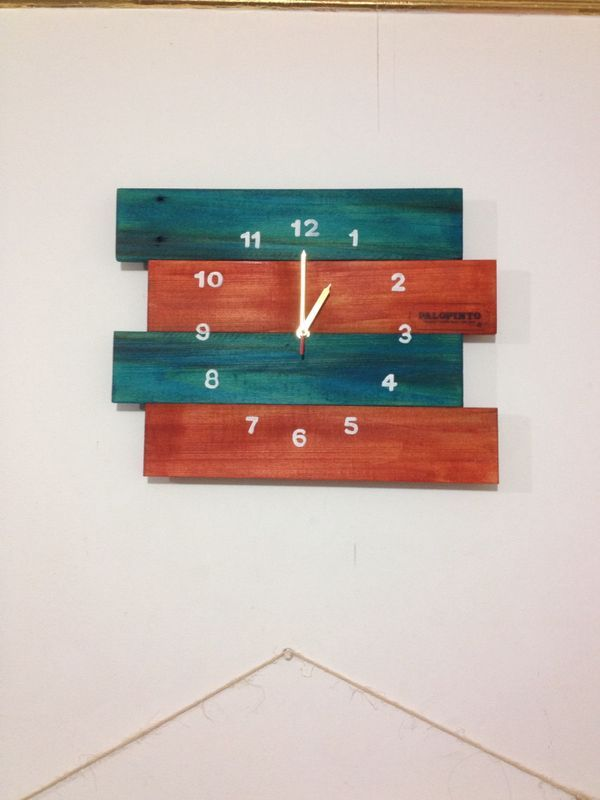 Reloj de Pared de pallets, estibas. By Palopinto
