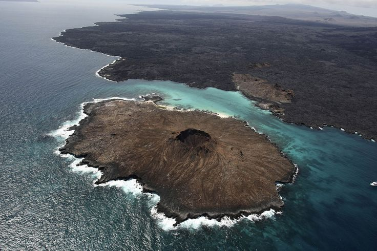 A Trip to the Galapagos Islands | Aerial view of Sombrero Chino Island, Galapagos Islands, Ecuador.