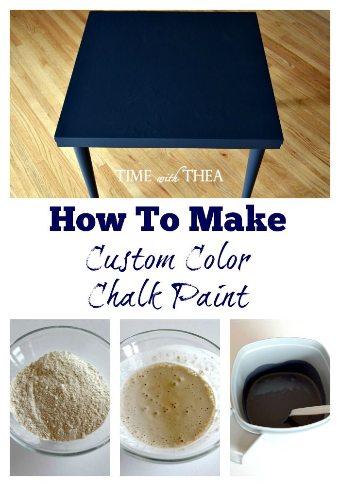 How To Make Custom Color Chalk Paint  - Made with Calcium Carbonate, water and latex paint.