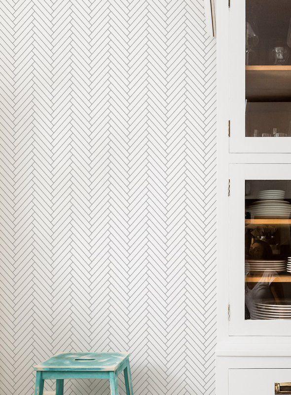 Mckillip Herringbone 4 L X 24 W Tile Peel And Stick Wallpaper Roll Bathroom Wallpaper Trends Wallpaper Trends Bathroom Design Small