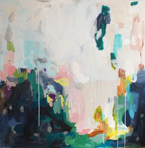 michelle armas acrylic on canvas.  so abstract and colorful.
