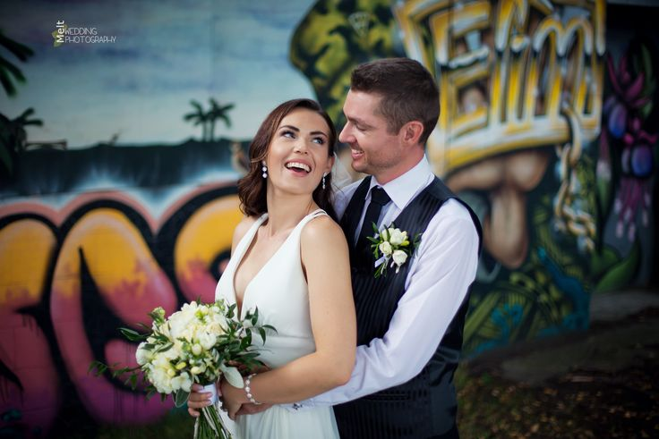 Malcolm & Emma making the most of the Dunedin Street Art for their Wedding Day. http://www.weddings.meltnz.co.nz/