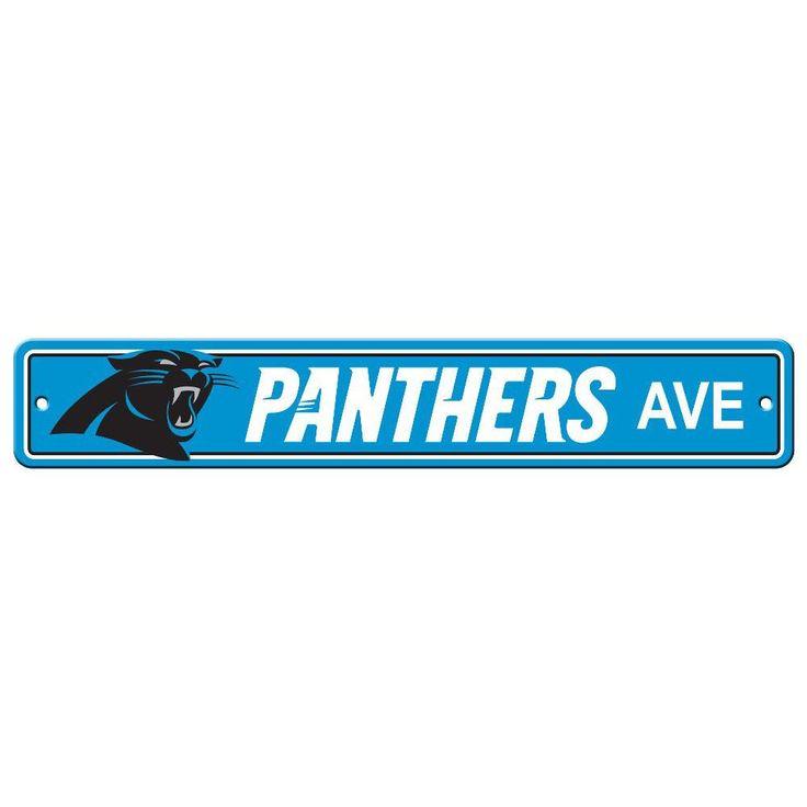 Carolina Panthers Team Street Sign
