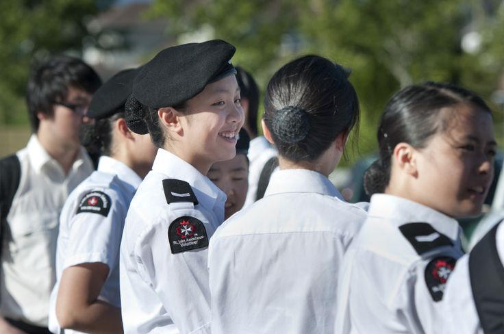 Cadet members at the Dog Days Event in Vancouver.