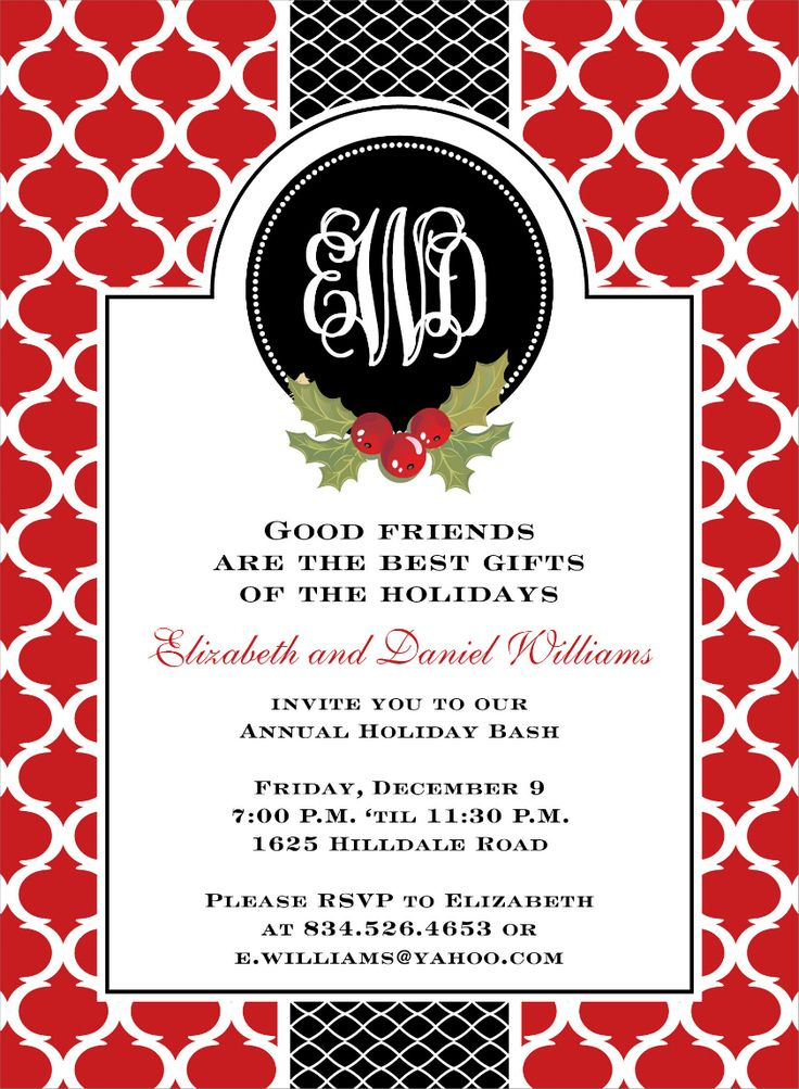 30 best Christmas invitations images on Pinterest Christmas