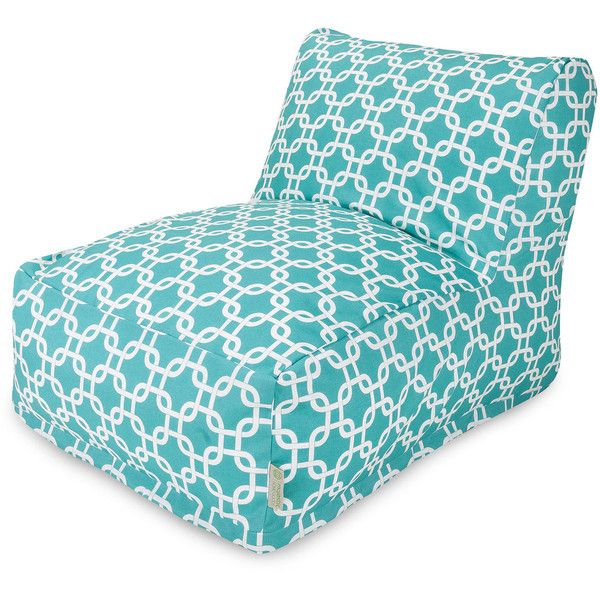 Dot & Bo Paper Chain Bean Bag Chair Lounger - Teal featuring polyvore, home, furniture, chairs, slipcover furniture, teal blue chairs, teal chair, teal bean bag chair and beanbag furniture