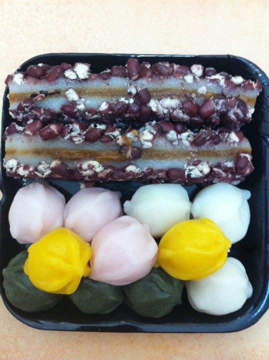 Ddeok korean traditional rice cake