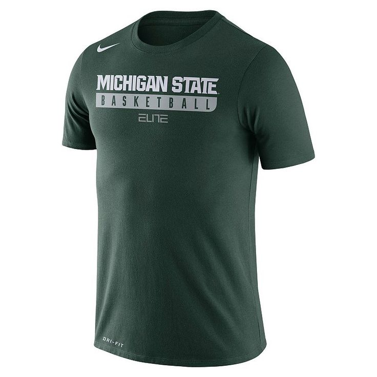 Men's Nike Michigan State Spartans Basketball Practice Dri-FIT Tee, Size: Medium, Green