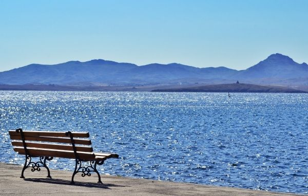 Bench at Moudros port