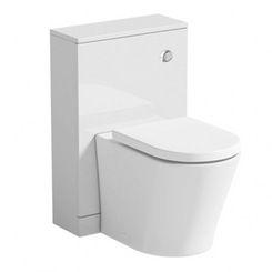 White back to wall toilet unit