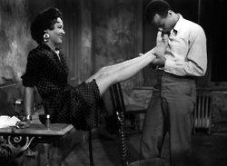 """Blow on 'em sugar…"" Harry Belafonte and Dorothy Dandridge in that iconic scene from Carmen Jones, 1954.: Belafonte Photo, Dorothy Dandridgeharri, Carmen Goldsmith, Harry Belafonte, Beautiful, Carmen Jones'S, 1954, Ems Sugar, Dandridgeharri Belafonte"