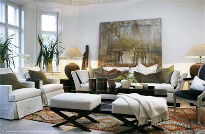 awesome art, rug and overall feel in this #living #room!
