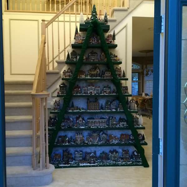 9 best christmas tree ladder display images on pinterest christmas village ladder publicscrutiny Image collections