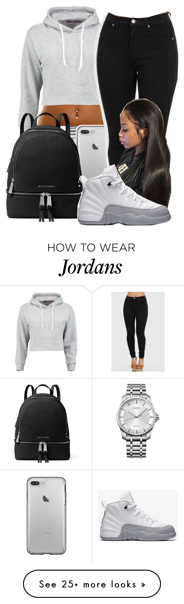 """Untitled #34"" by aaliyah-marie1 on Polyvore featuring Calvin Klein, Boohoo, MICHAEL Michael Kors and NIKE"