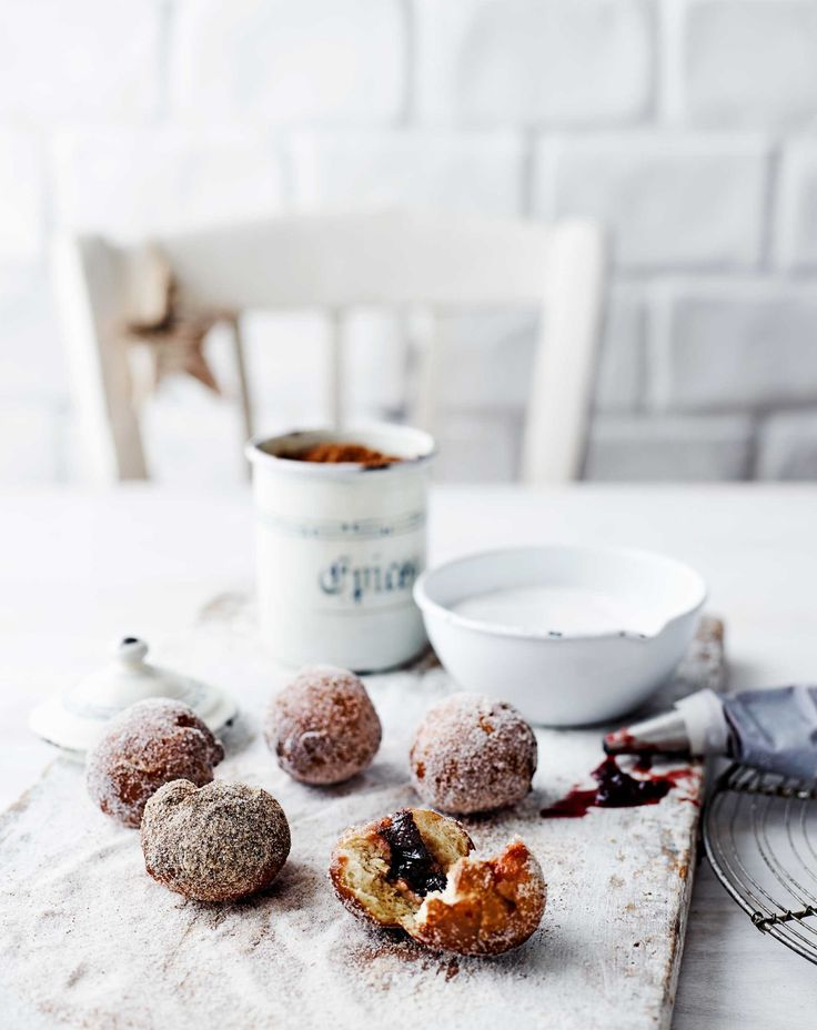 Bake it up! One of our favourites from the current issue - these special Christmas doughnuts with a sweet cranberry sauce filling.  Photography: Lisa Cohen