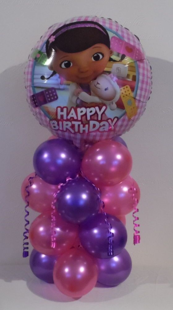 DISNEY- DOC  MCSTUFFINS  - FOIL BALLOON DISPLAY -TABLE CENTREPIECE -  BIRTHDAY in Home, Furniture & DIY, Celebrations & Occasions, Party Supplies   eBay!
