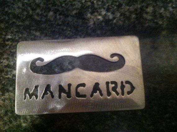 Mancard metal credit card shape bottle opener by TheCave61 on Etsy