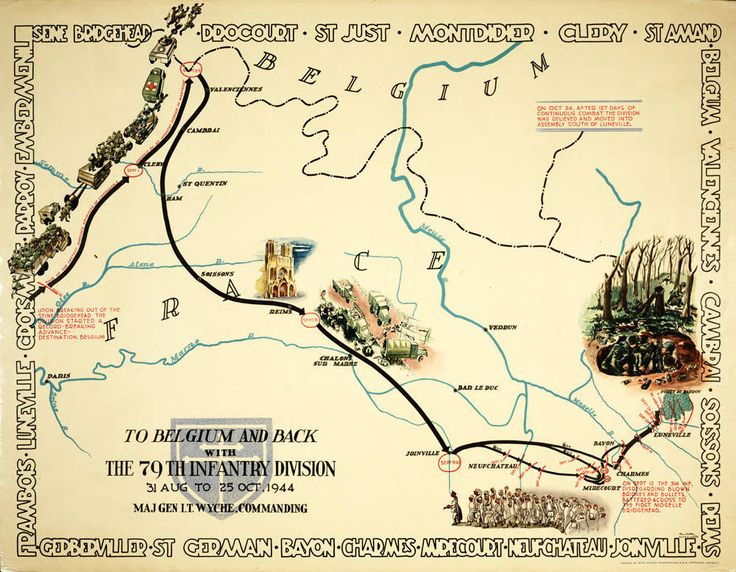 32 best vintage ww ii division campaign maps images on pinterest infantry division of the us army cross of lorraine northern france campaign map of world war ii gumiabroncs Images
