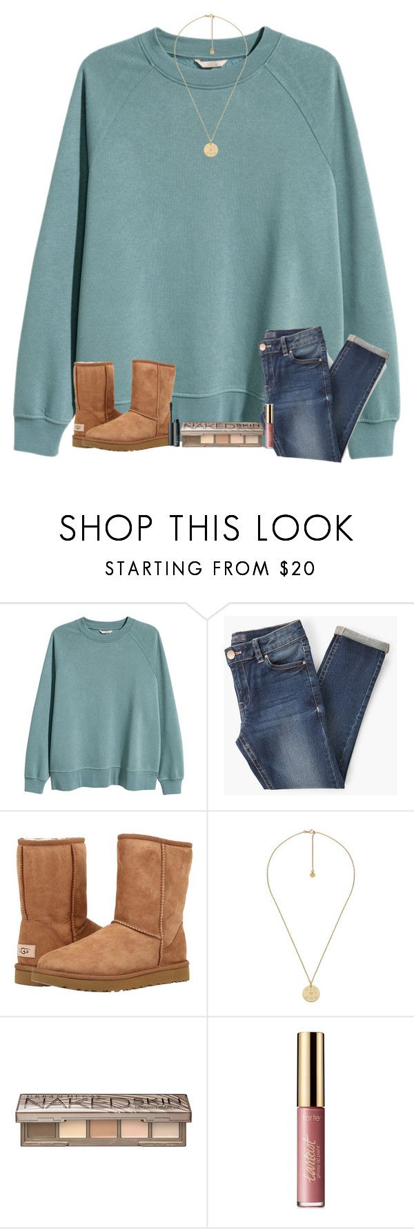"""""""I'm ready for some snow"""" by tjrsis ❤ liked on Polyvore featuring H&M, UGG Australia, Gucci, Urban Decay, tarte and NARS Cosmetics"""