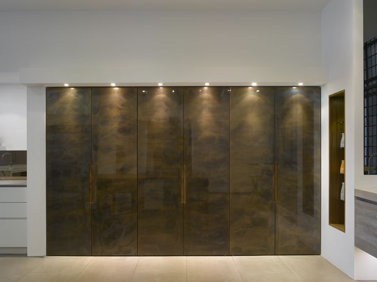 Roundhouse bespoke furniture patinated bronze doors shut