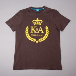 King Apparel first guard brown t shirt - Sale. Before €23.99 and now £18.98