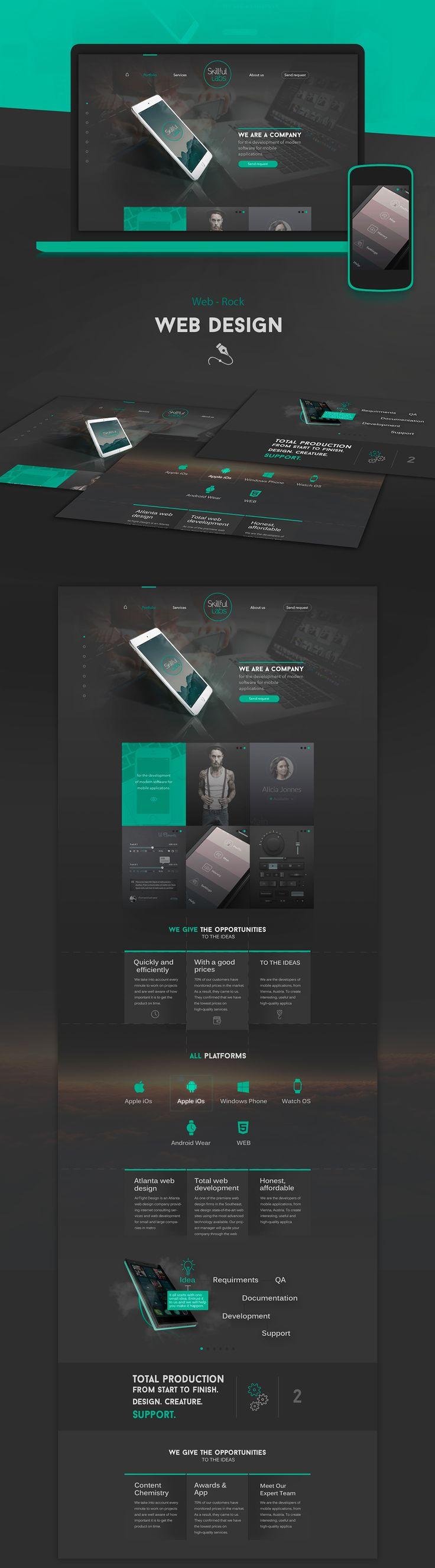 web design, website creation on Behance