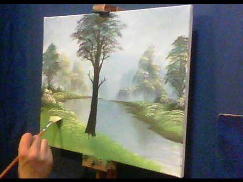 Dipinto ad acrilico - Armoniosa nebbia lacustre (Parte 1) - di Patrick Ezechiele - YouTube