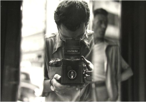 "Saul Leiter     Self-portrait     1950   ""Seeing is a neglected enterprise. ""  Saul Leiter"
