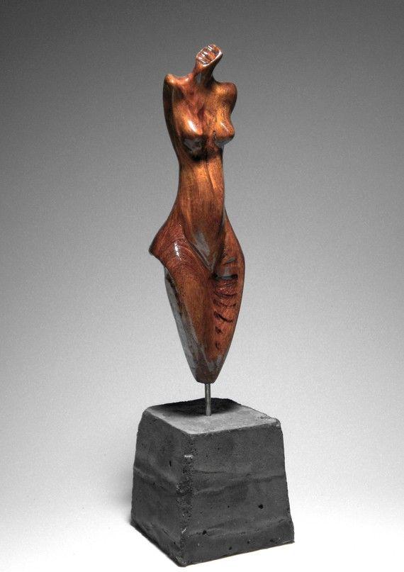 """Mesquite Female Figure - """"Pose"""""""