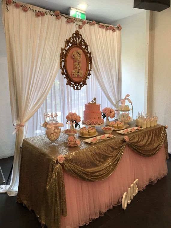 Jupe en Tulle rose Tutu nappe/Table pour la par AJweddingpartyevent