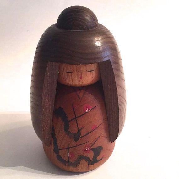 Vintage Kokeshi Doll/ Traditional Japanese Art/ by HippyHappyShop