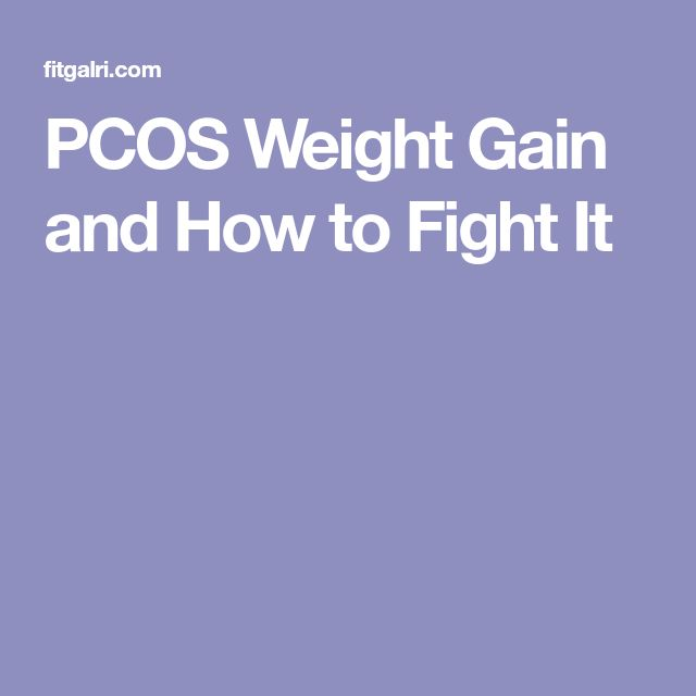 PCOS Weight Gain and How to Fight It