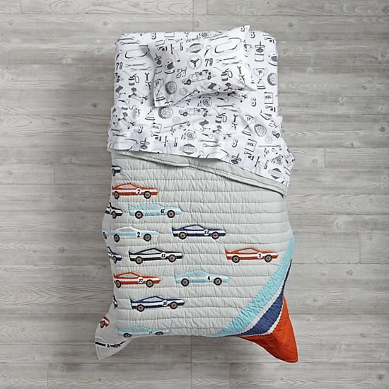 Pit Crew Toddler Bedding  | The Land of Nod