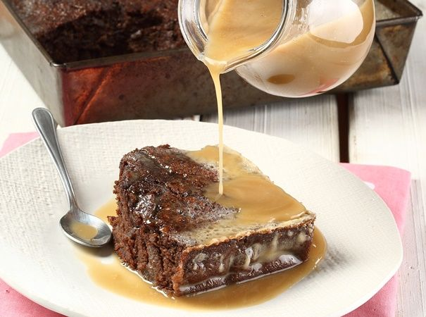 • Good old-fashioned chocolate pudding •  Enjoy with custard and ice cream!