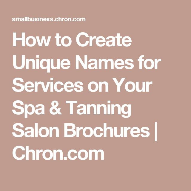 how to write a brochure for a salon